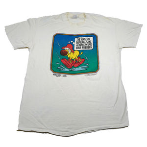 "Vintage 1988 Grimmy Comic Strip ""Always Wear Your Rubbers"" Tee"