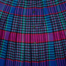 Load image into Gallery viewer, Vintage Plaid Button Up Skirt
