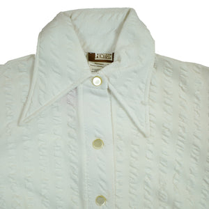 Vintage 70's Deadstock Fenton Westerns White Collared Long Sleeve