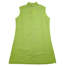 Load image into Gallery viewer, Vintage Deadstock Lady DJ Neon Green Mockneck Tank Top