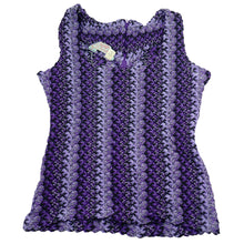 Load image into Gallery viewer, Deadstock HbarC California Ranchwear Purple Woven Tank Top
