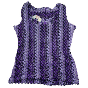 Deadstock HbarC California Ranchwear Purple Woven Tank Top