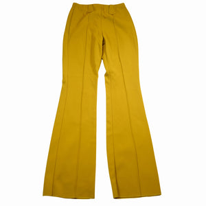 1970's HBarC Ranchwear Mustard Stretch Deadstock Poly-Western Rodeo Pants