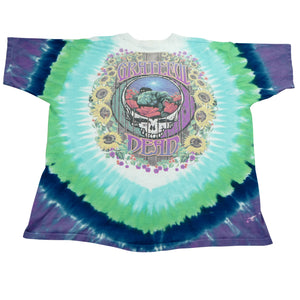 Vintage 90's Grateful Dead Terrapin Station Liquid Blue Tie Dye Tee