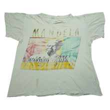 Load image into Gallery viewer, Rare! Vintage 1990 Mandela USA Visit Trashed Tee