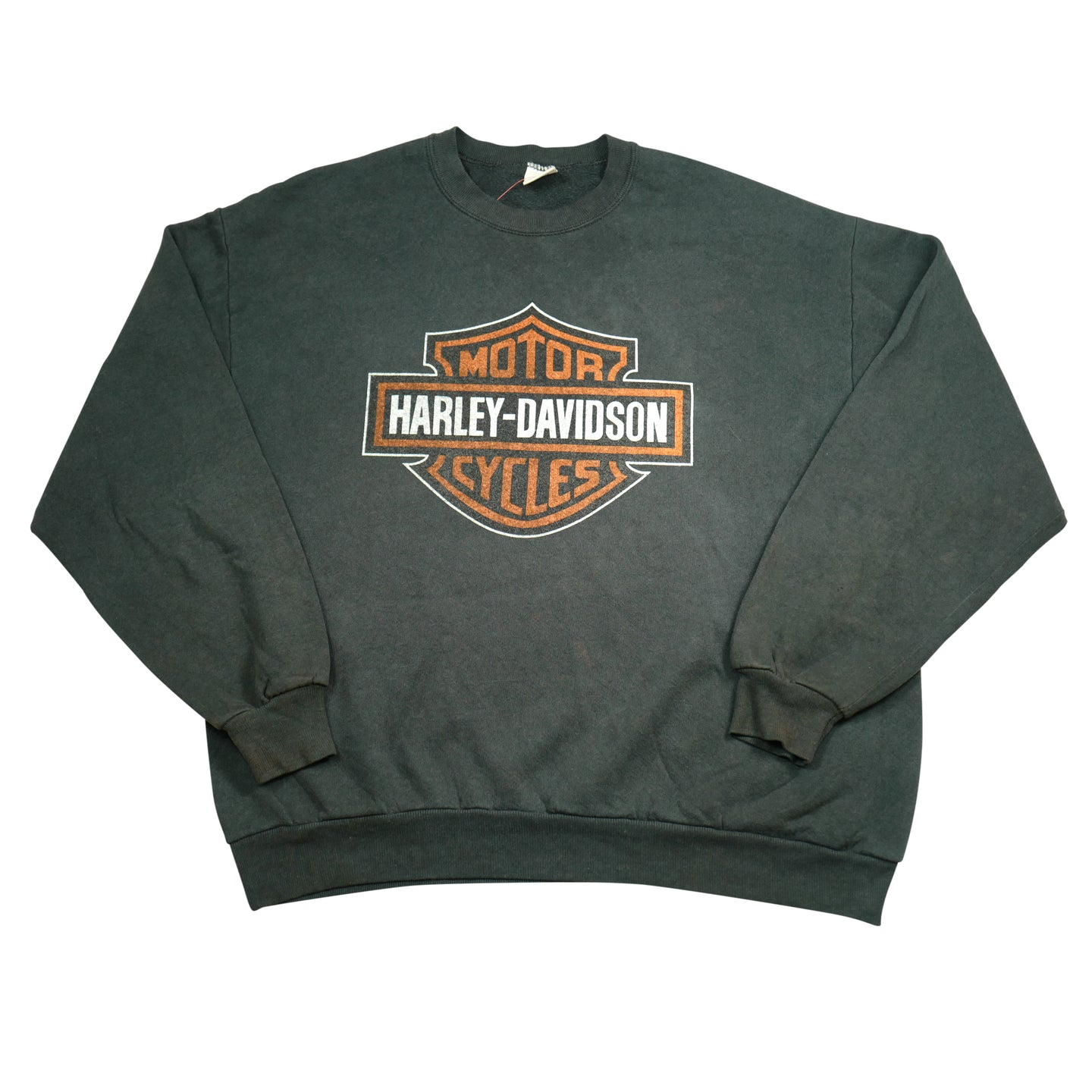 Black Jerzees Harley Logo Sweatshirt
