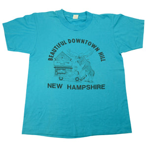 Vintage 1989 Beautiful Downtown Hill New Hampshire Graphic Tee