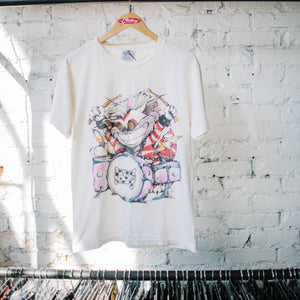 "Vintage 90's Alice In Wonderland ""Cheshire Drummer"" Tee"
