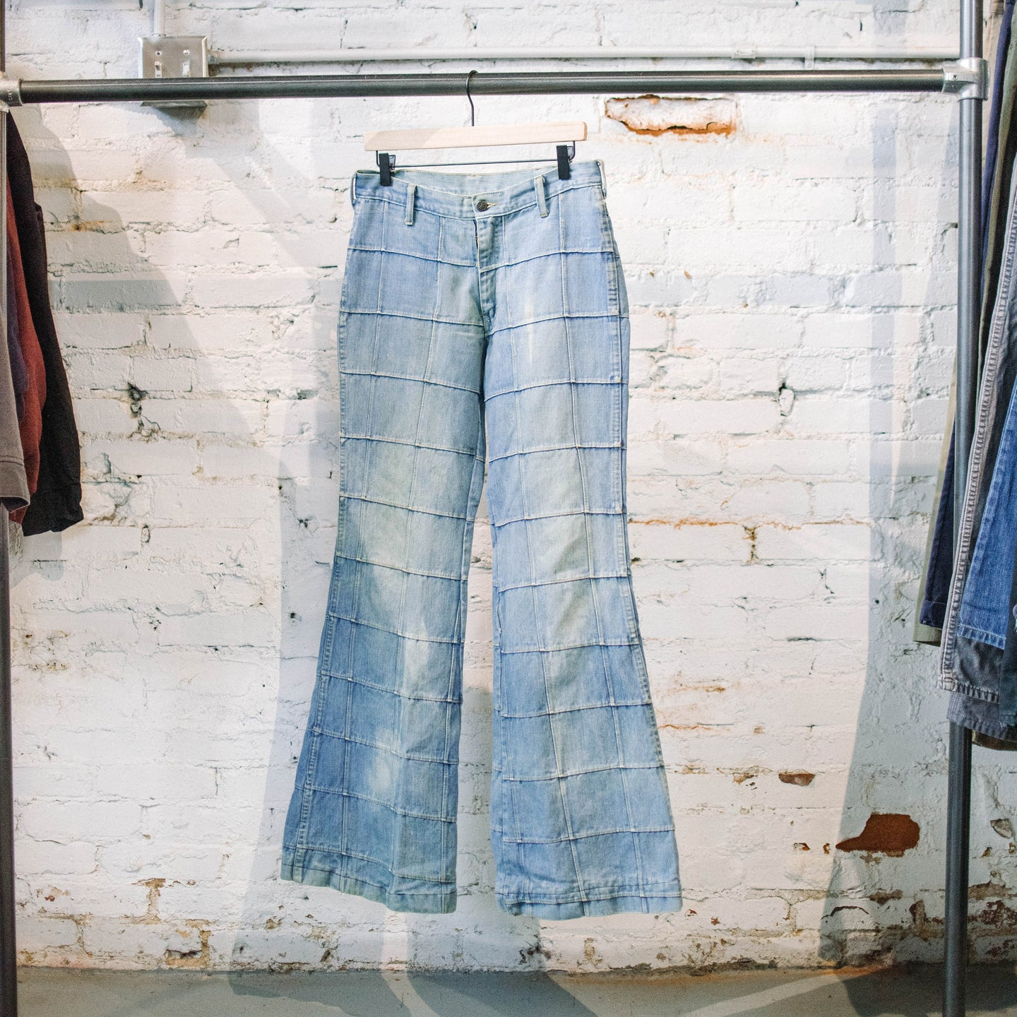 *RARE* 1970's Brittania Patchwork Flare Jeans
