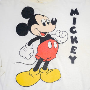 Vintage Disney Mickey Mouse White Sweatshirt