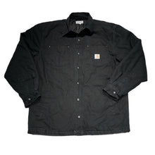 Load image into Gallery viewer, Black Carhartt Snap Button Jacket
