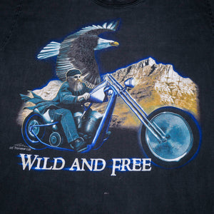 Vintage Wild and Free Motorcycle Tee