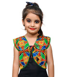 Black Flower Embroidered Jacket For Kids