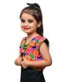 Pink Flower Embroidered Jacket For Kids
