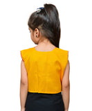 Yellow Keri Allover Embroidered Jacket For Kids