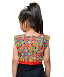 Red Mini Embroidered Jacket For Kids