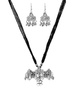 Black Tassle Pendant-Set 2-J013