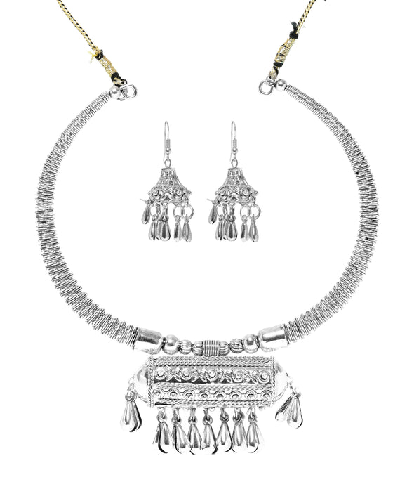 Oxidised Silver Jewellery Combo Set for Girls and Women-J007