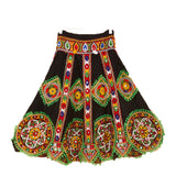 Banjara India Kutchi Embroidered Chaniya Choli For Girls (CC-GOL) - Black