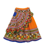 Banjara India Kutchi Embroidered Chaniya Choli For Girls (CC-KDR) - Orange
