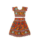 Banjara India Kutchi Embroidered Chaniya Choli For Girls (CC-TGL) - Red