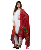 Banjara India Women's Pure Cotton Real Mirrorwork & Hand Embroidery Dupatta (Kutchi Chakkar) Maroon - CKR04