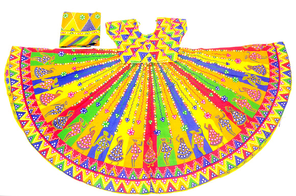 Banjara India Multicoloured 3 piece Chaniya Choli Set-DND03