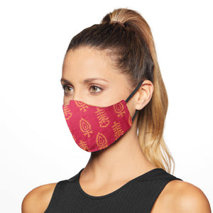 Gamthi Cotton Womens 2 layers Face Mask by Banjara India (Assorted colours/designs)