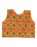 Banjara India Sleeveless Corona Kids Embroidered Ethnic Jacket - Yellow