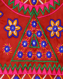 Banjara India Sleeveless Star Embroidery Kids Ethnic Jacket - Red
