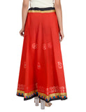 Banjara India Gotta Work Long Flair Cotton Skirt/Chaniya - GotaSkirt-Red