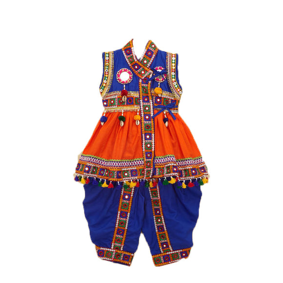 Banjara India Embroidered Kedia For Boys - KD-BGD-Orange (14)