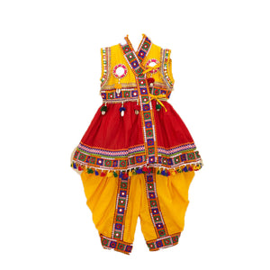 Banjara India Embroidered Kedia For Boys - KD-BGD-Red