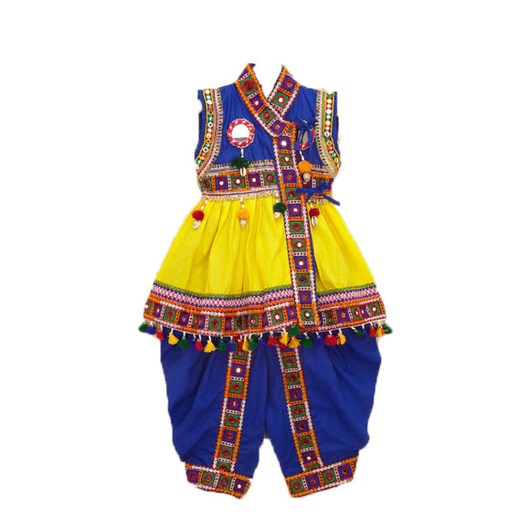 Banjara India Embroidered Kedia For Boys (BGD) - Yellow