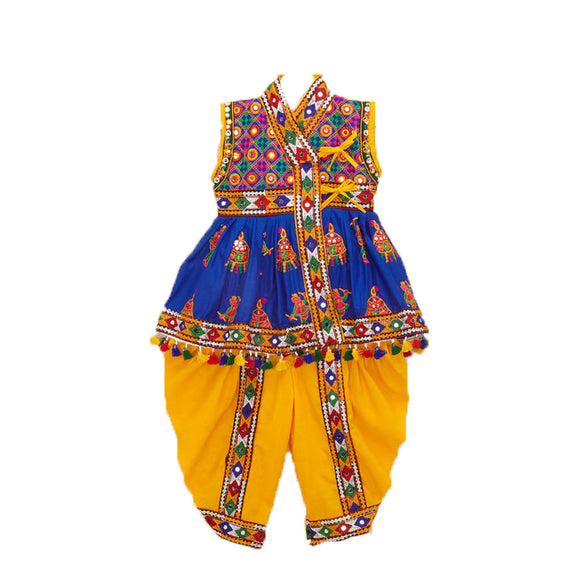 Banjara India Embroidered Kedia For Boys - KD-RGR-Blue (14)