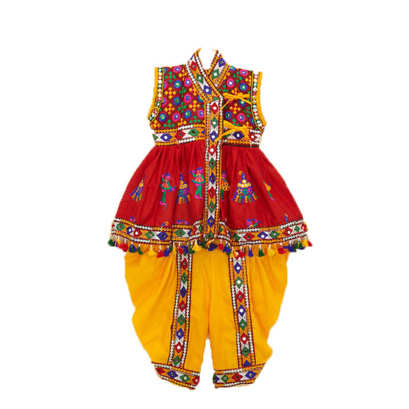 Banjara India Embroidered Kedia For Boys - KD-BGD-Red (14)