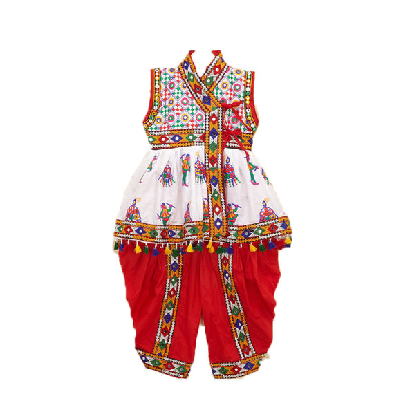 Banjara India Embroidered Kedia For Boys - KD-RGR-White (14)