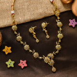 Charms Designer Gold Plated Jewellery Set with Earrings for Women/Girls