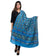 Banjara India Women's Pure Cotton Aari Embroidery & Foil Mirrors Dupatta (Rasna) Turquoise - RSN13