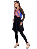 Banjara India Women's Cotton Blend Kutchi Embroidered Sleeveless Short Ethnic Jacket/Koti (SSE-3003) – Blue