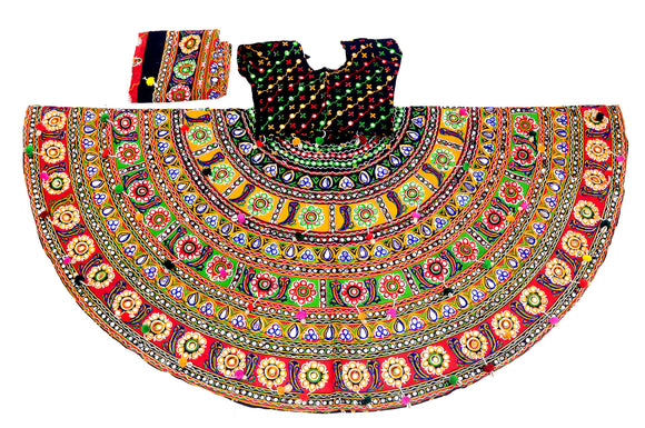 Banjara India Multicoloured 3 piece Chaniya Choli Set-SuperDivdo-01
