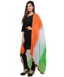 Banjara India Women's Soft Chiffon Solid Dupatta (TRG-Border)