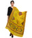 Banjara India Women's Pure Cotton Real Mirrorwork & Hand Embroidery Dupatta (Kutchi Trikon) Lemon Yellow - TKN08