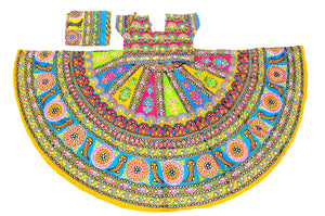 Banjara India Multicoloured 3 piece Chaniya Choli Set-Talwar-01