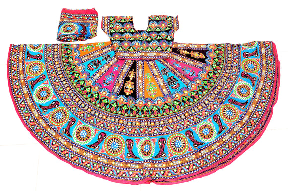 Banjara India Multicoloured 3 piece Chaniya Choli Set-Talwar-04