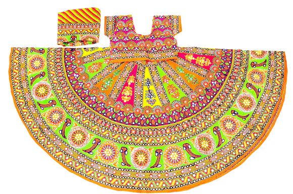 Banjara India Multicoloured 3 piece Chaniya Choli Set-Talwar-05