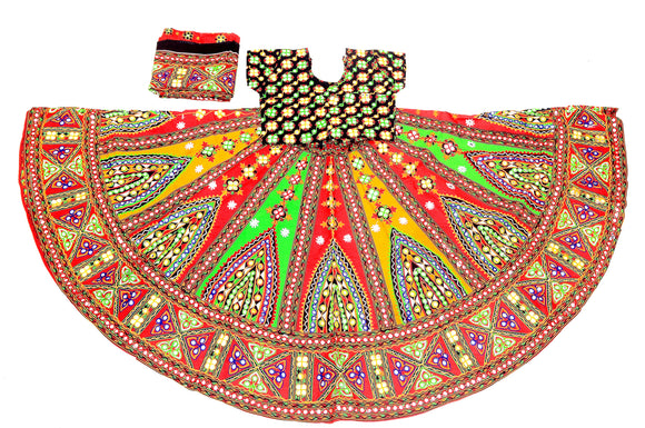 Banjara India Multicoloured 3 piece Chaniya Choli Set-Temple-03