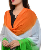 Banjara India Women's Soft Chiffon Solid Dupatta (TRG-Plain)