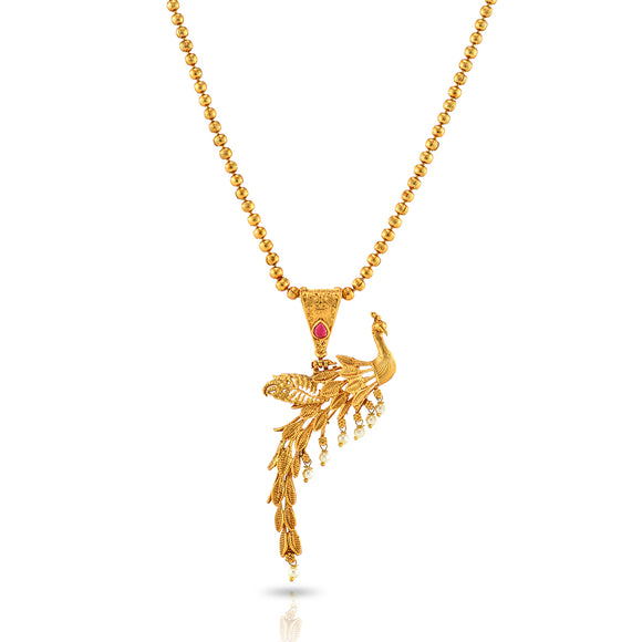 Charms Amazing Gold Plated Peacock Jewellery Set for Women