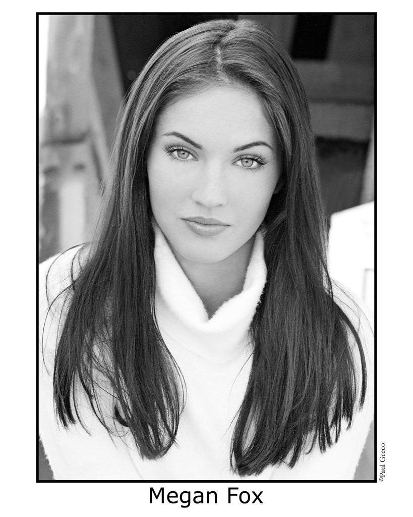 Head Shot White w/Black line Border B&W